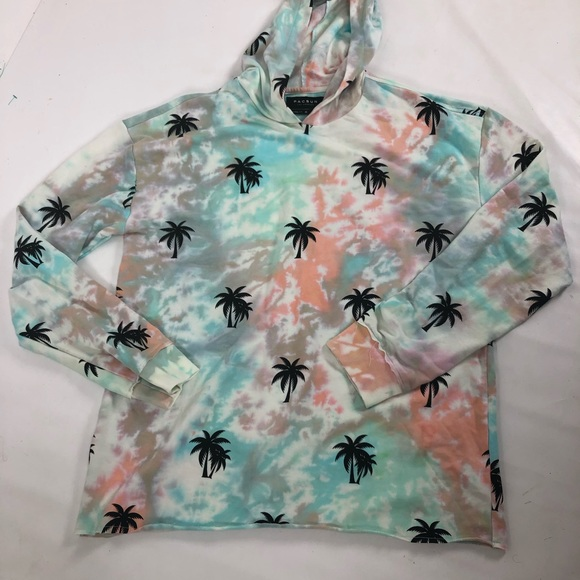 premium selection 5338b d30e0 New Pacsun Palm Tree Tie Dye Pullover Hoodie. M